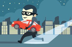 Stealing a car Royalty Free Stock Photos