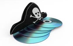 Stealing cd - Data hacking concept Royalty Free Stock Photo
