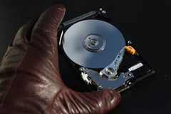 Stealing computer information Royalty Free Stock Photo
