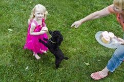 Stealing cupcake royalty free stock photo