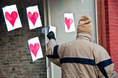 Stealing hearts on Valentine's Day Royalty Free Stock Photos