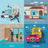 Stealing Icons Set Royalty Free Stock Images
