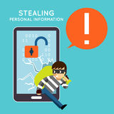 Stealing personal information from your mobile Stock Photos