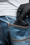 Stealing a wallet. Royalty Free Stock Photos