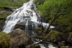 Steall Falls Royaltyfri Fotografi