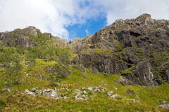 Steall Gorge highlands Royalty Free Stock Image