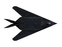 Stealth aircraft. F117 stealth bomber top view isolated on white background Royalty Free Stock Image