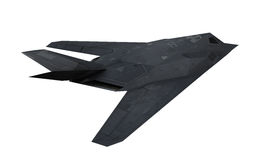 Stealth Fighter Aircraft. Isolated on white background. 3D render Royalty Free Stock Photo