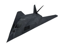 Stealth Fighter Aircraft. Isolated on white background. 3D render Stock Images