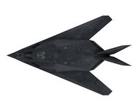 Stealth Fighter Aircraft. Isolated on white background. 3D render Royalty Free Stock Image