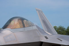 Stealth fighter jet. Detail of 5th generation fighter jet with stealth technology stock photography