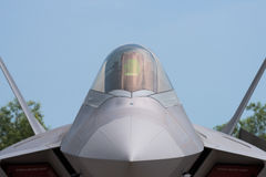 Stealth fighter jet. Detail of 5th generation fighter jet with stealth technology royalty free stock photos
