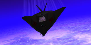 Stealth Fighter Jet Royalty Free Stock Photography