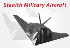 Stealth Military Aircraft. Vector illustration Stock Photo
