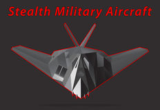 Stealth Military Aircraft. Vector illustration Royalty Free Stock Image