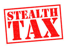 STEALTH TAX Stock Image