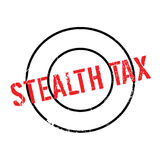 Stealth Tax rubber stamp Stock Image