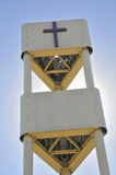 Stealth Telecommunication Tower. On Church Property Stock Image