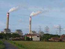 SteamÂelektrische centrale de macht van de de bouwelektriciteit Stock Afbeelding