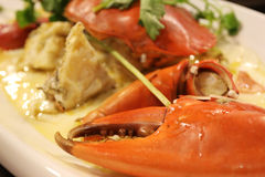 Steam asian food crab Stock Photography