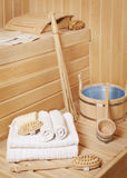 Steam bath-room accessories Stock Image