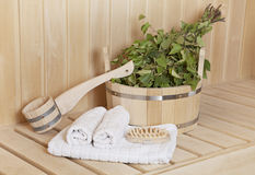 Steam bath room stuff Stock Images