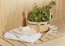 Steam bath room Stock Photo