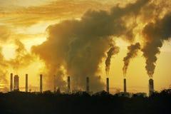Steam big chimney Stock Image
