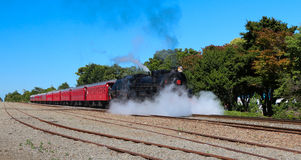 Steam Blast Off. Steam train blasting steam off to get moving Stock Images