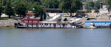 A Steam Boat Ferries In The Arkansas Stock Photo