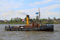 Steam boat Scheelenkuhlen on the river Stock Images
