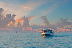 Steam boat in Venice Royalty Free Stock Images