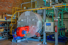 Steam boiler. The steam boiler on gas fuel Royalty Free Stock Photography
