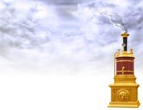 Steam boiler motif. Original illustration of a steam boiler motif Royalty Free Stock Photos