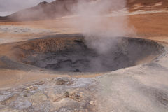 Steam from boiling mud Stock Images