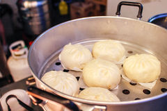 Steam buns at night market Royalty Free Stock Photography