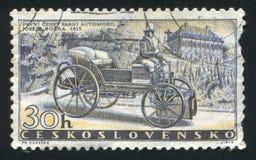 Steam Car. CZECHOSLOVAKIA - CIRCA 1958: stamp printed by Czechoslovakia, shows Bozek's Steam Car of 1815, circa 1958 stock photo