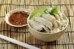 Steam chicken with rice Stock Images