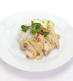 Steam Chicken with Rice Stock Photos