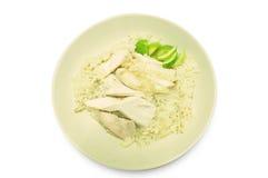 Steam Chicken with Rice (Hainan Chicken) Stock Photos