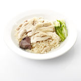 Steam Chicken with Rice Royalty Free Stock Image