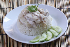Steam chicken with rice Stock Photography