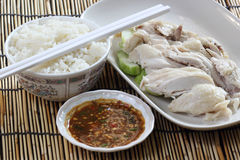Steam chicken with rice Royalty Free Stock Photo