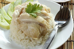 Steam chicken with rice Stock Image
