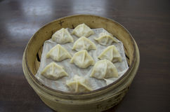 Steam chinese dumplings Royalty Free Stock Images