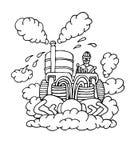 Steam cleaner vector illustration