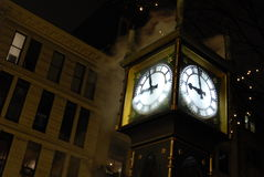 Steam Clock Stock Photo