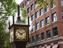 Steam clock Stock Photography