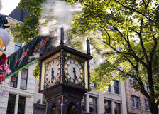 Steam clock of Gastown stock images