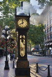 Steam Clock at Gastown Vancouver in the Morning Stock Photos
